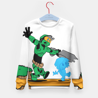 Thumbnail image of Galactic Journey Kid's Sweater, Live Heroes