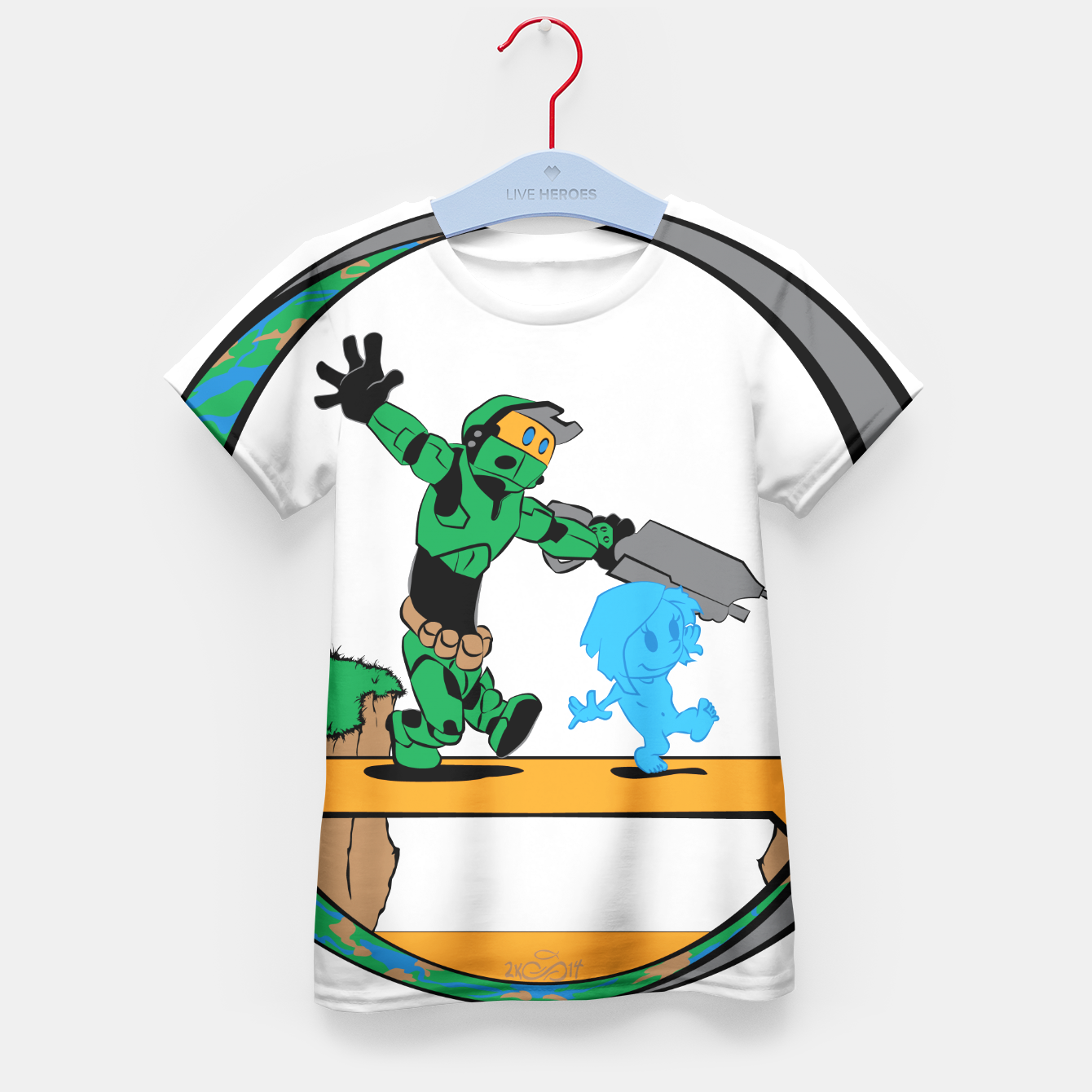 Image of Galactic Journey Kid's T-shirt - Live Heroes