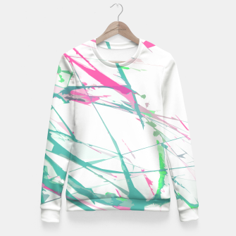 Miniature de image de Abstract artistic pink turquoise splatters  Fitted Waist Sweater, Live Heroes
