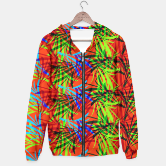 Thumbnail image of Tropical Summer Vibrant Colorful Leafy Print Hoodie, Live Heroes