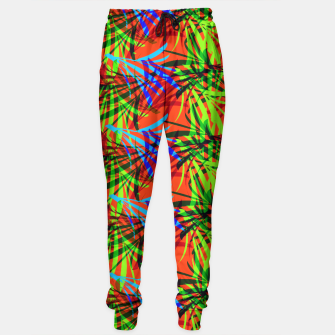 Thumbnail image of Tropical Summer Vibrant Colorful Leafy Print Sweatpants, Live Heroes