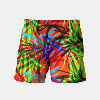Thumbnail image of Tropical Summer Vibrant Colorful Leafy Print Swim Shorts, Live Heroes