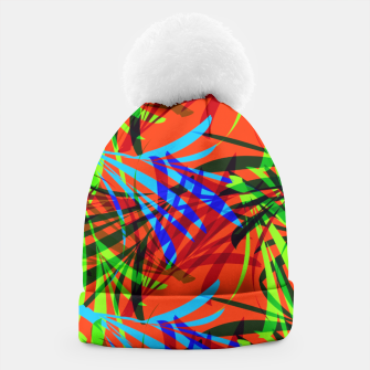Thumbnail image of Tropical Summer Vibrant Colorful Leafy Print Beanie, Live Heroes