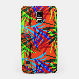 Thumbnail image of Tropical Summer Vibrant Colorful Leafy Print Samsung Case, Live Heroes