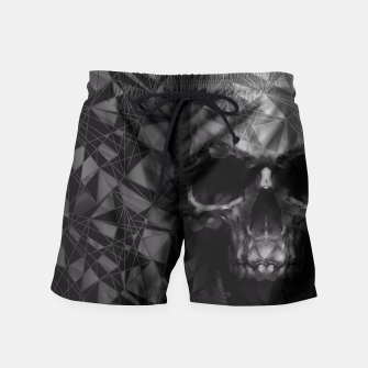 Thumbnail image of Geometric Skull Swim Shorts, Live Heroes