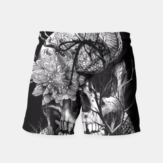 Thumbnail image of Snake and Skull Swim Shorts, Live Heroes