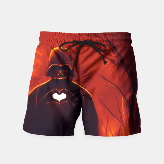 Thumbnail image of Heart Vader Swim Shorts, Live Heroes