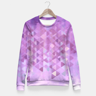 Miniatur PURPLE RAIN Woman cotton sweater, Live Heroes
