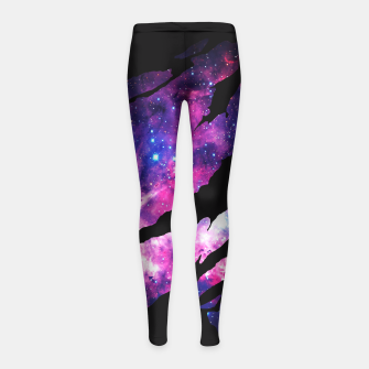 Miniaturka Deep Space Inside Girl's Leggings, Live Heroes