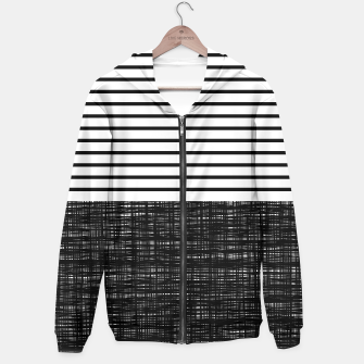 Thumbnail image of platno (black stripes) zip-front hoodie, Live Heroes
