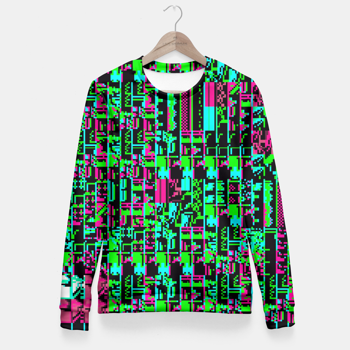 Image of NES Protocol: release the neurotoxin Fitted Waist Sweater - Live Heroes