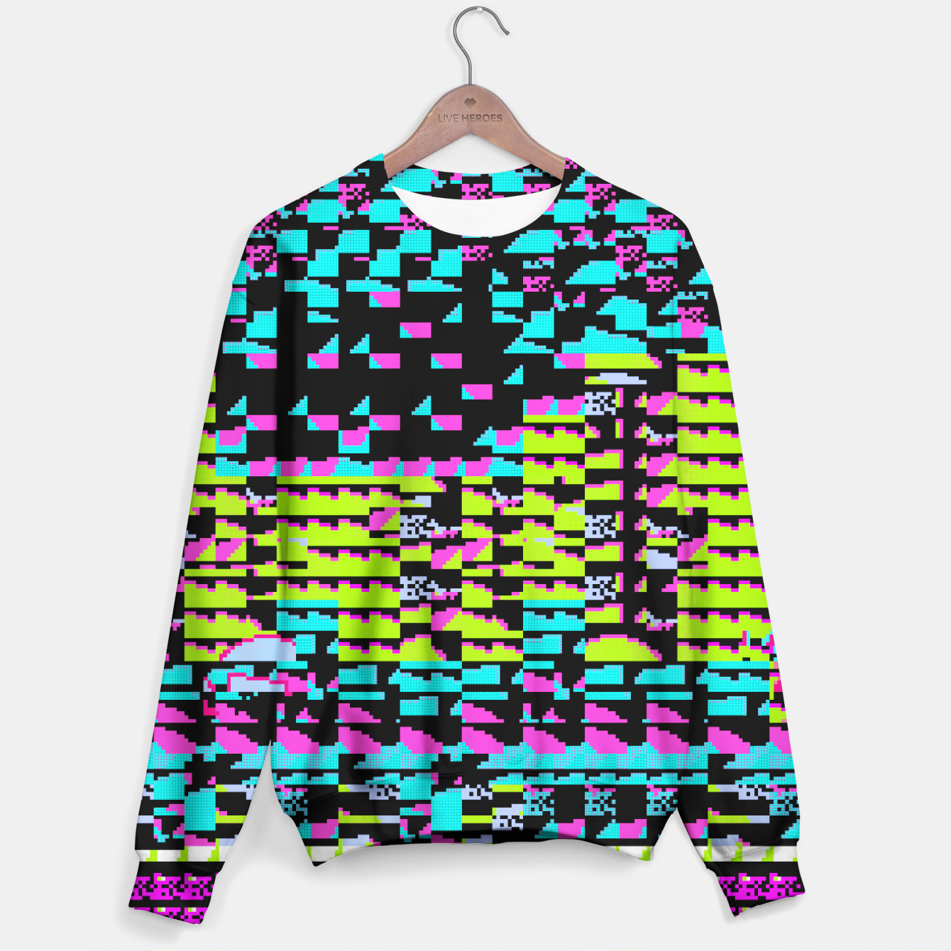 Image of NES Protocol: MORE GREEN AND PURPLE Sweater - Live Heroes