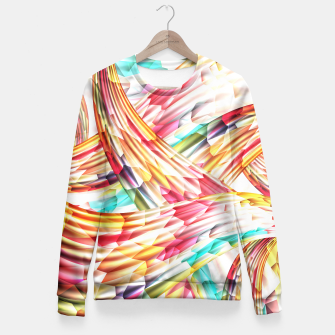 Miniatur Abstract Multicolor Design Fitted Waist Sweater, Live Heroes