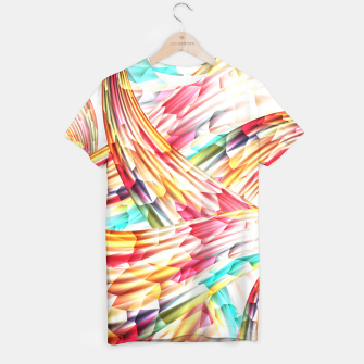 Miniatur Abstract Multicolor Design T-shirt, Live Heroes