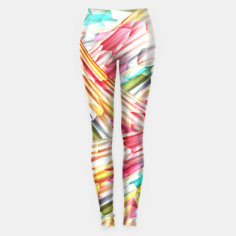 Miniatur Abstract Multicolor Design Leggings, Live Heroes