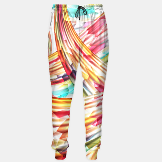 Miniatur Abstract Multicolor Design Sweatpants, Live Heroes