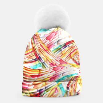 Miniatur Abstract Multicolor Design Beanie, Live Heroes