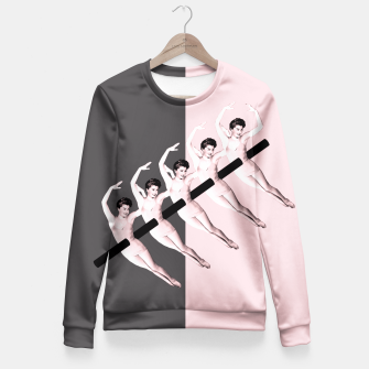 Thumbnail image of pink kebab Fitted Waist Sweater, Live Heroes