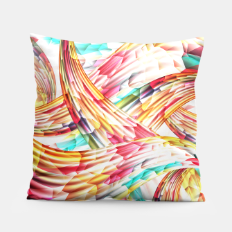 Miniatur Abstract Multicolor Design Pillow, Live Heroes