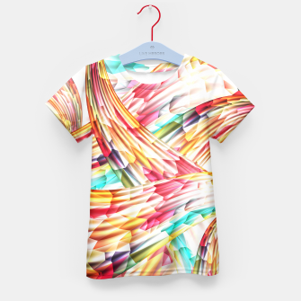 Miniatur Abstract Multicolor Design Kid's T-shirt, Live Heroes