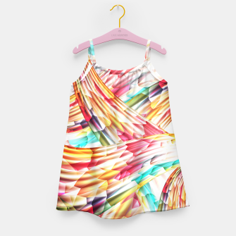 Miniatur Abstract Multicolor Design Girl's Dress, Live Heroes