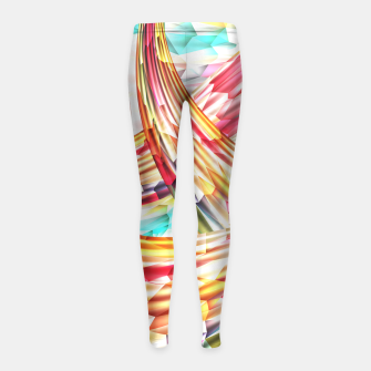 Miniatur Abstract Multicolor Design Girl's Leggings, Live Heroes