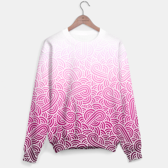 Thumbnail image of Ombre pink and white swirls doodles Sweater, Live Heroes