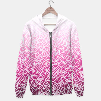 Thumbnail image of Ombre pink and white swirls doodles Hoodie, Live Heroes