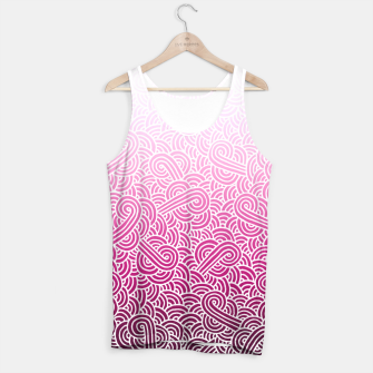 Thumbnail image of Ombre pink and white swirls doodles Tank Top, Live Heroes