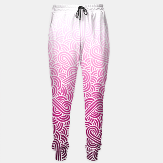 Thumbnail image of Ombre pink and white swirls doodles Sweatpants, Live Heroes
