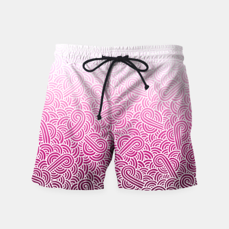Thumbnail image of Ombre pink and white swirls doodles Swim Shorts, Live Heroes