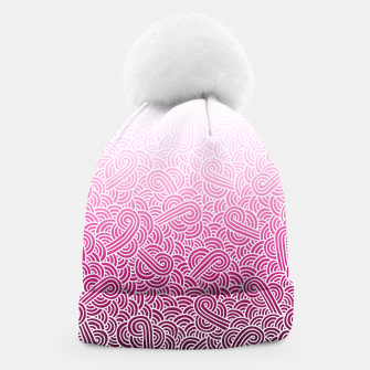 Thumbnail image of Ombre pink and white swirls doodles Beanie, Live Heroes