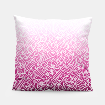 Thumbnail image of Ombre pink and white swirls doodles Pillow, Live Heroes