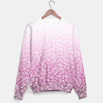 Thumbnail image of Gradient pink and white swirls doodles Sweater, Live Heroes