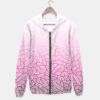 Thumbnail image of Gradient pink and white swirls doodles Hoodie, Live Heroes
