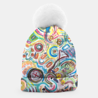 Thumbnail image of Abstract Art Design  Beanie, Live Heroes