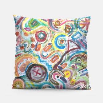 Thumbnail image of Abstract Art Design  Pillow, Live Heroes