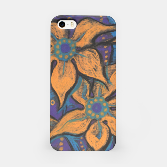 """Thumbnail image of """"Golden flowers"""" iPhone Case, Live Heroes"""
