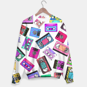 Miniatur Retro 80's 90's Neon Patterned Cassette Tapes Sweater, Live Heroes