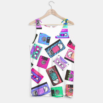 Miniatur Retro 80's 90's Neon Patterned Cassette Tapes Tank Top, Live Heroes