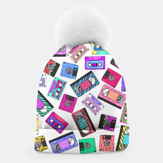 Miniatur Retro 80's 90's Neon Patterned Cassette Tapes Beanie, Live Heroes