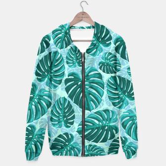 Thumbnail image of Tropical Leaf Monstera Plant Pattern Hoodie, Live Heroes