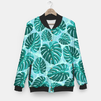 Thumbnail image of Tropical Leaf Monstera Plant Pattern Baseball Jacket, Live Heroes