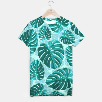 Thumbnail image of Tropical Leaf Monstera Plant Pattern T-shirt, Live Heroes