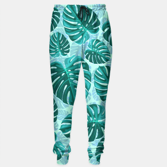 Thumbnail image of Tropical Leaf Monstera Plant Pattern Sweatpants, Live Heroes