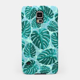 Thumbnail image of Tropical Leaf Monstera Plant Pattern Samsung Case, Live Heroes