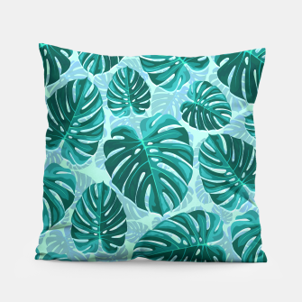Thumbnail image of Tropical Leaf Monstera Plant Pattern Pillow, Live Heroes