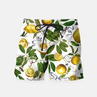 Thumbnail image of Lemon Tree Swim Shorts white, Live Heroes