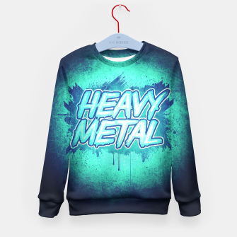 Miniature de image de HEAVY METAL! ( Green Splatter Typo Design ) Kid's Sweater, Live Heroes