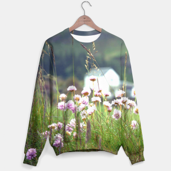 Thumbnail image of Purple Clover Wild Flowers  Sweater, Live Heroes
